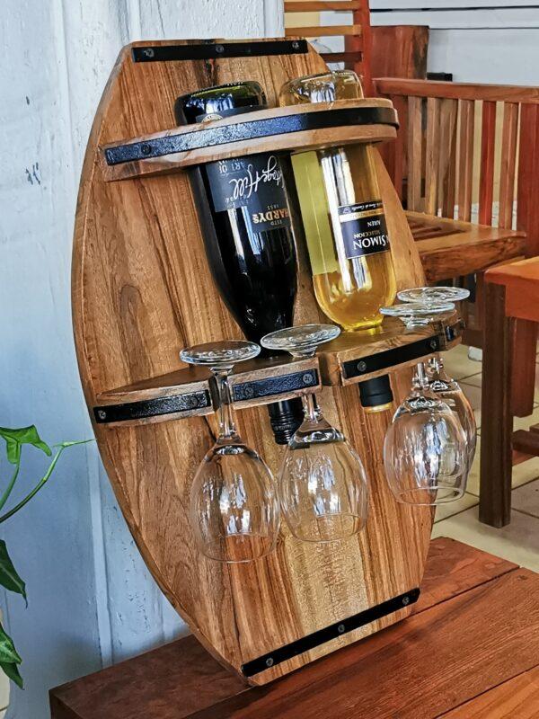 Porta vino estilo barril San Juan del sur