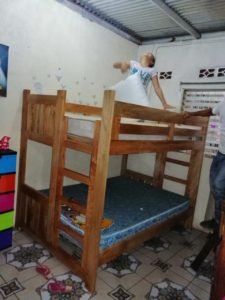 two-storey wooden bed for children