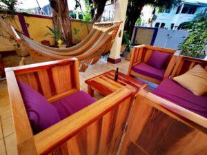 Juego de sillones de madera