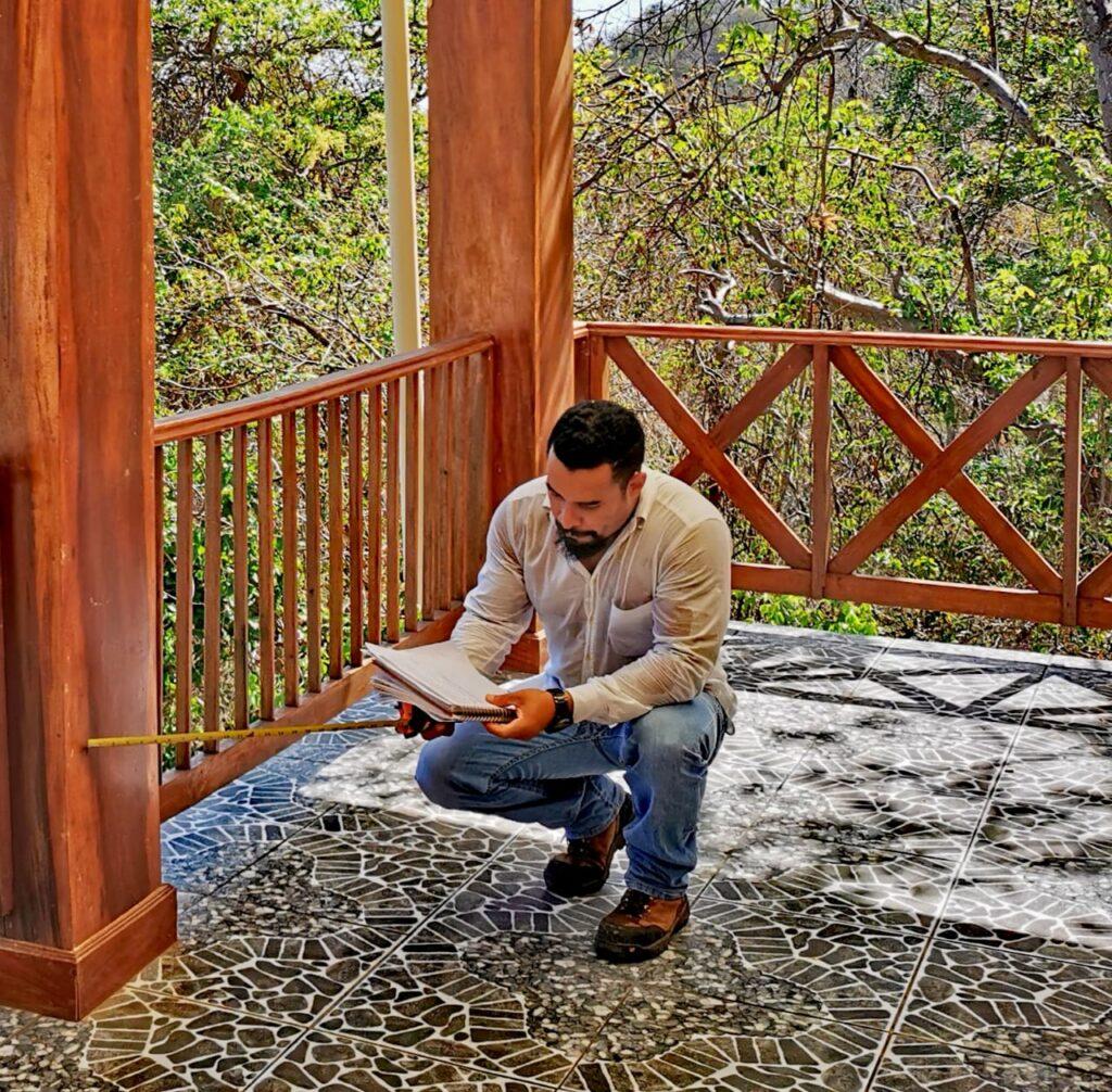 Ricardo Vargas en Inspección en san juan del sur