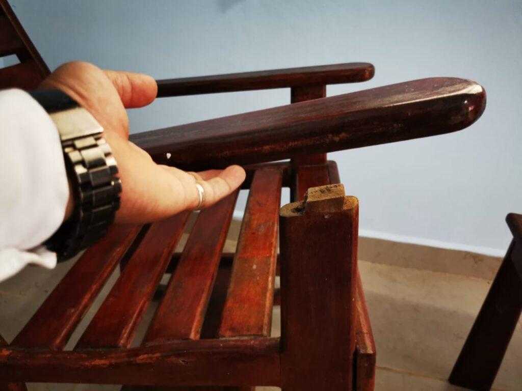 inspección de muebles madera